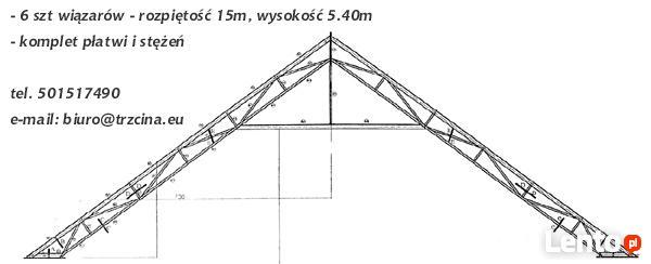 Góra Stalowa konstrukcja dachu (ocynkowana) hali, magazynu 20mx15 Chomino FR62