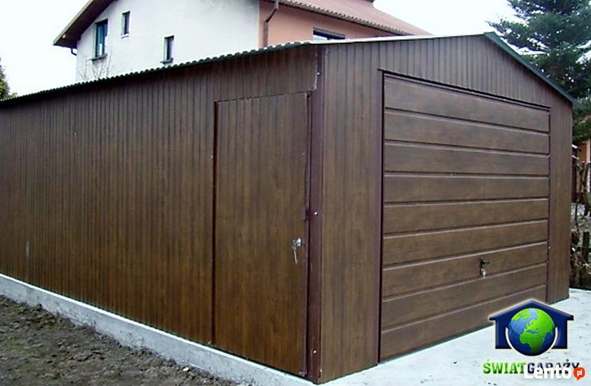 Garaże Blaszane 4x6 Orzech Blaszaki Drewnopodobne Katowice