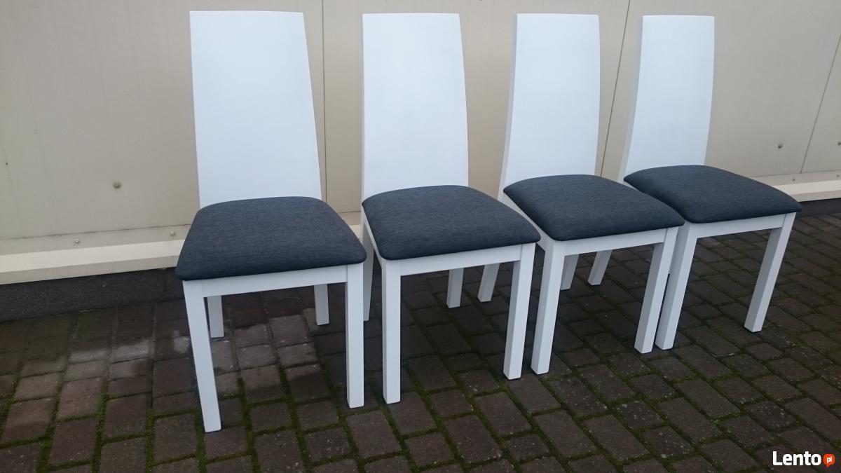 krzes�o tapicerowane nowoczesne bia�e do salonu kuchni nowe