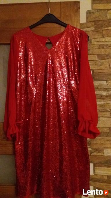 7499190cbb Czerwona Sukienka na wesele 46 48 Kolbuszowa