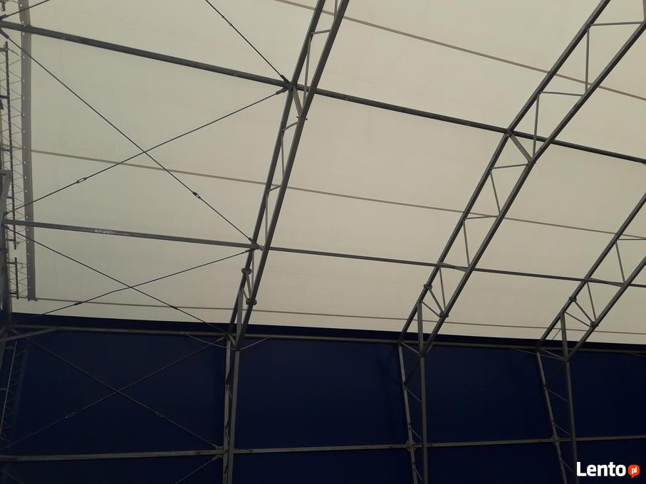 Oryginał Używana hala namiotowa stalowa 20m x 24m x 4,5m OKAZJA! Władysławów TQ18