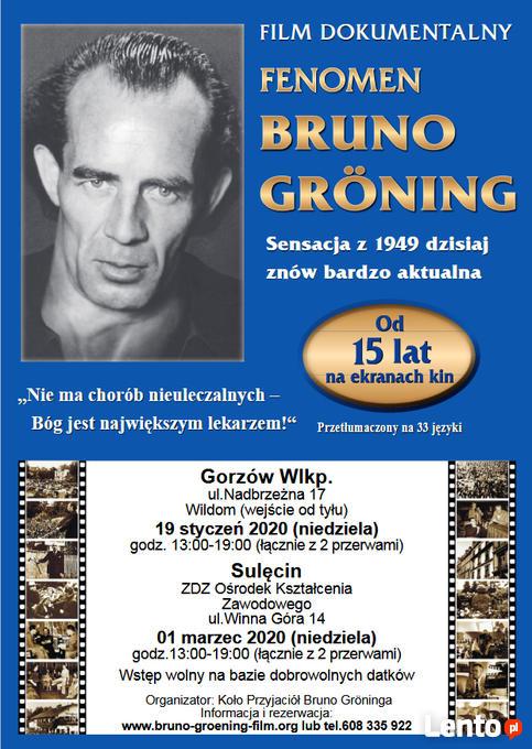 GORZÓW Fenomen Bruno Groening Film 17.01 Gorzów Wielkopolski