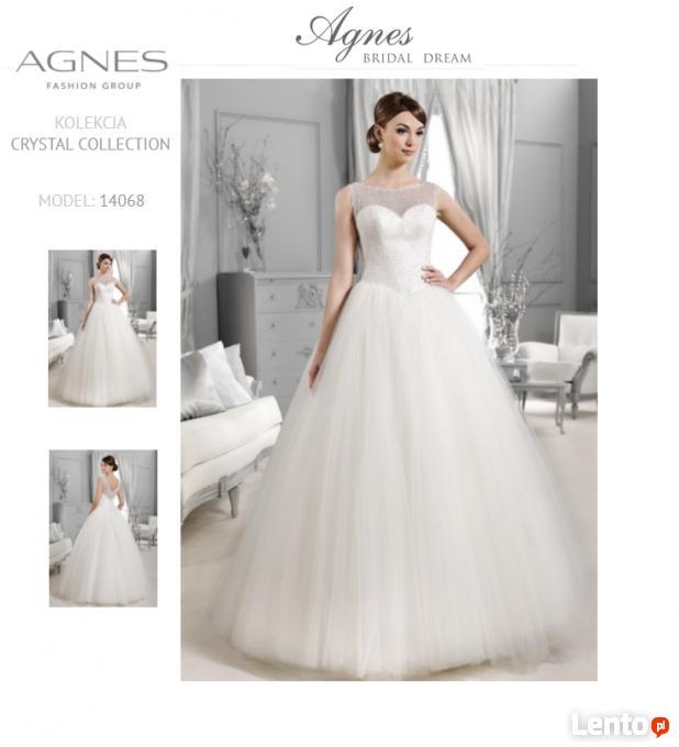 5762f3fb91 Archiwalne Suknia Ślubna biała AGNES BRIDAL Princessa r 36 38 ...