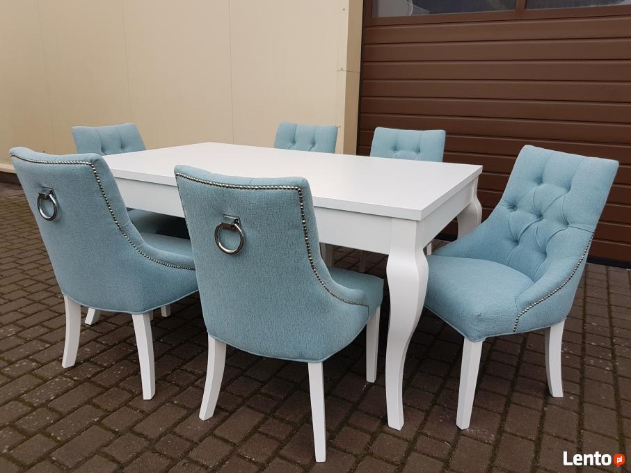 Nowoczesna architektura GLAMOUR krzesło tapicerowane pikowane z kołatką i pinezkami XR84