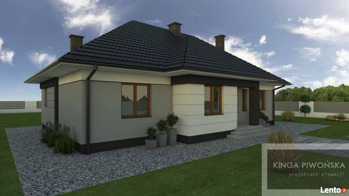Projekt Elewacji Domu Lub Budynku Komercyjnego Radom