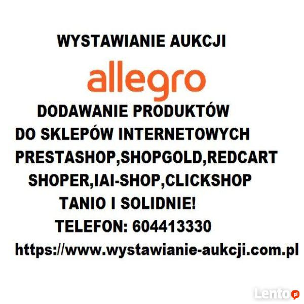 dc775dfd60 Wystawianie aukcji dodawanie produktów do sklepu www Tanio! Warszawa