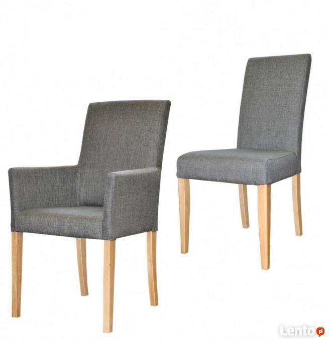 Bardzo dobry Krzesło fotel z podłokietnikami tapicerowane producent glamo CT84