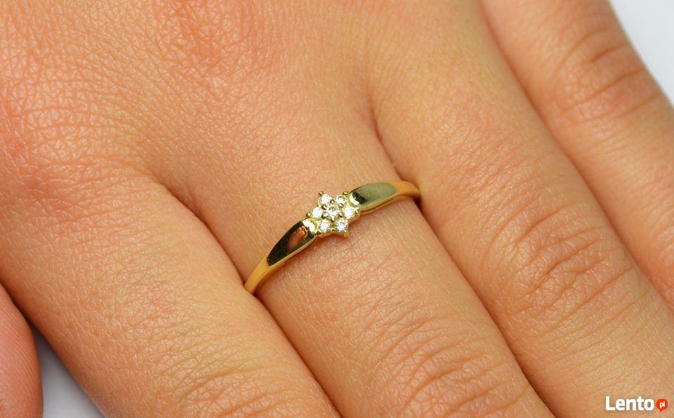 Archiwalne Korn Modna Biżuteria Złoty Pierścionek Zaręczynowy