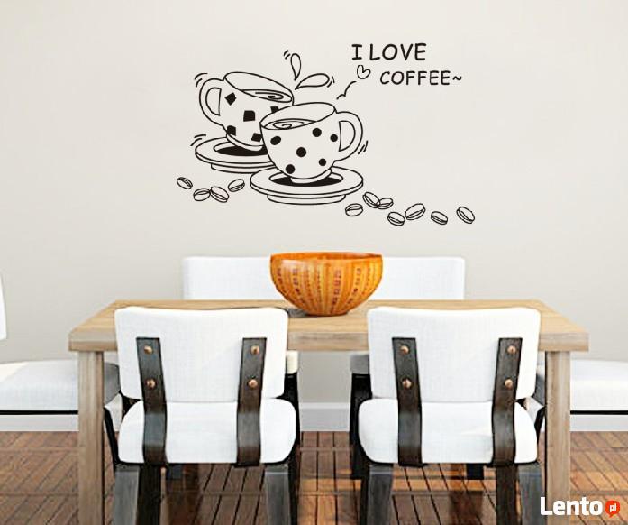 naklejki ścienne na ścianę do kuchni filiżanki kawa ws0091