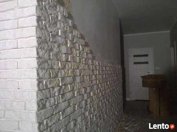 Biała Cegła Gipsowa Kamien Dekoracyjny Płytki Gips Dąbrowa