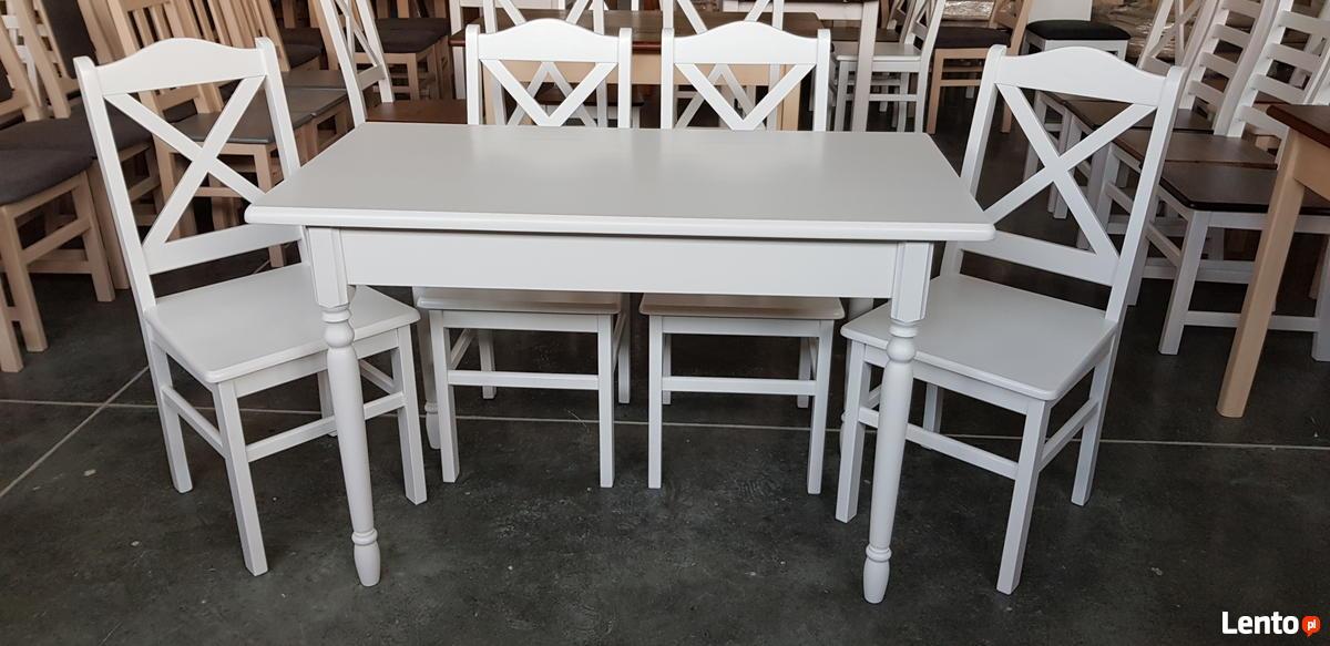 Komplet Prowansalski Stół Biały 4 Krzesła Krzyż Nowy Warszawa