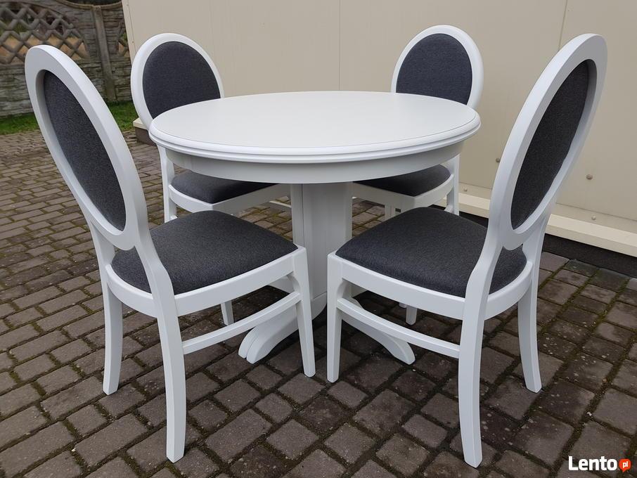 Zaawansowane Nowoczesny stół biały rozkładany okrągły 90 cm 1 noga nowy IA79