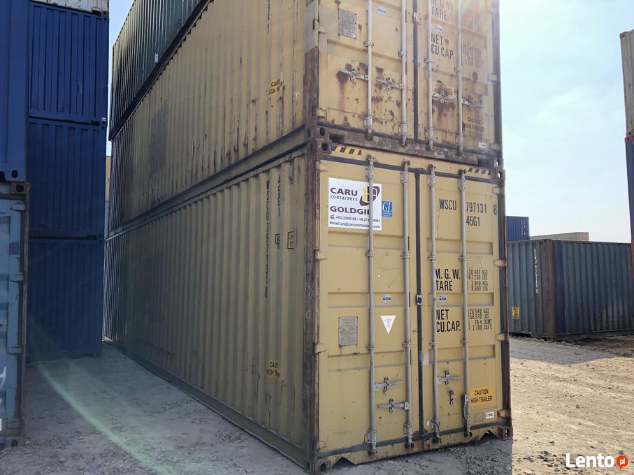 Ogromny Kontener morski 40HC, używany, kontenery magazynowe 12m Gdańsk HT63