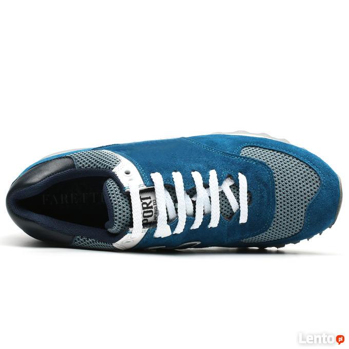 Podwyższające Buty Męskie Codzienne Sportowe Zamszowe +7CM