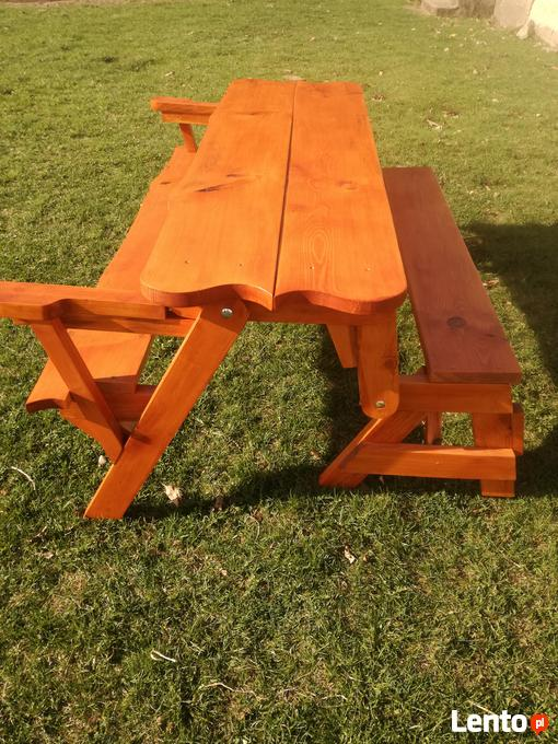 Okazja ławka Ogrodowa ławka Rozkładana 2w1 ławko Stół Grajewo