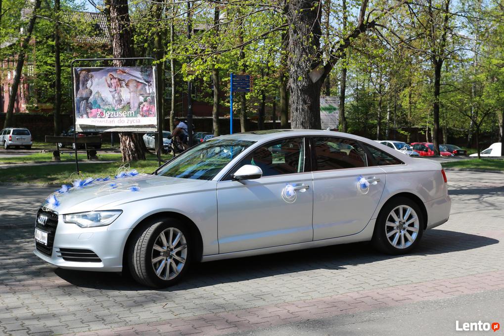 Chłodny Auto na ślub wesele, samochód do ślubu - Audi A6 C7 Premium Katowice LL05