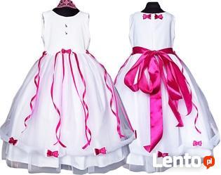 e0319f69a8 Archiwalne Tiulowa sukienka dla dziewczynki- kokardki rozmiary 56 ...