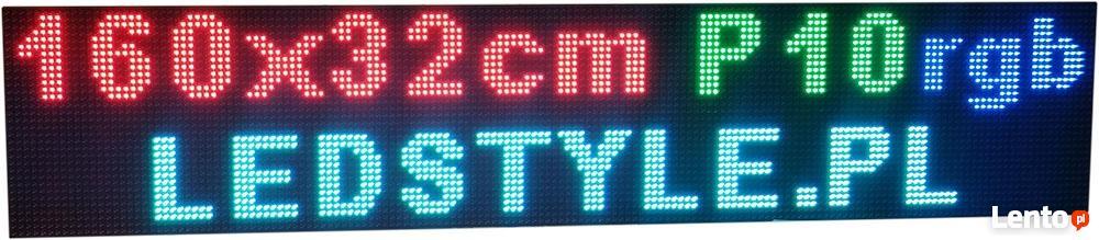 Nietypowy Okaz Tablica LED 160x32 P10 RGB Reklama świetlna Producent Ekran Wrocław PM18