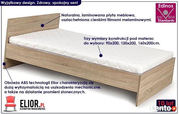 Kultowe łóżko Lines 90x200 120x200 160x200 Dąb Sonoma