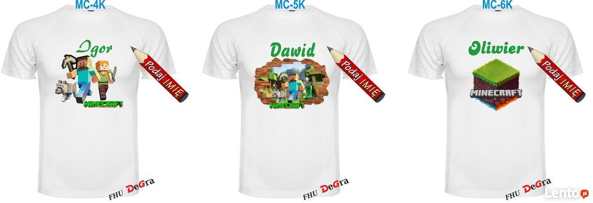 297bb5639 ... Koszulka Minecraft+imię Twojego dziecka oddychająca - 2 ...