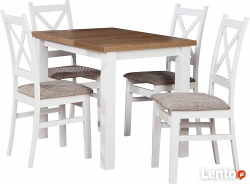 Tani Zestaw M 1 Stół 4 Białe Krzesła Do Kuchni Do Jadalni