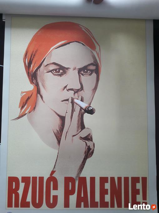 Plakat żuć Palenie W Stylu Prl Piotrków Trybunalski