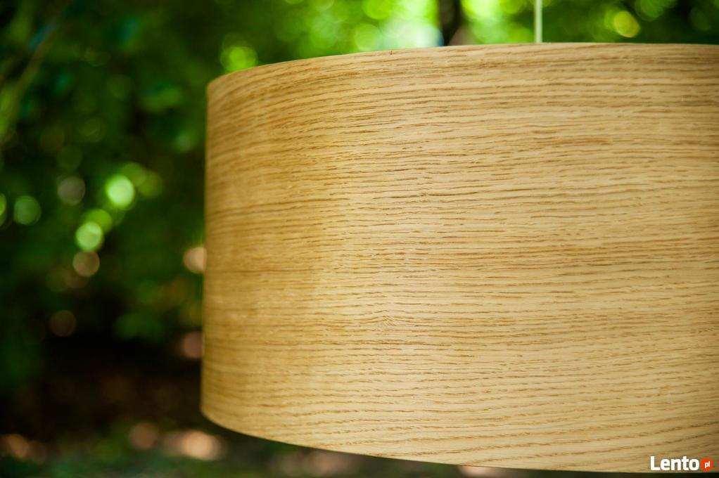 Drewniana lampa wisząca Abażur Dąb Drewno Sufitowa Tarnów