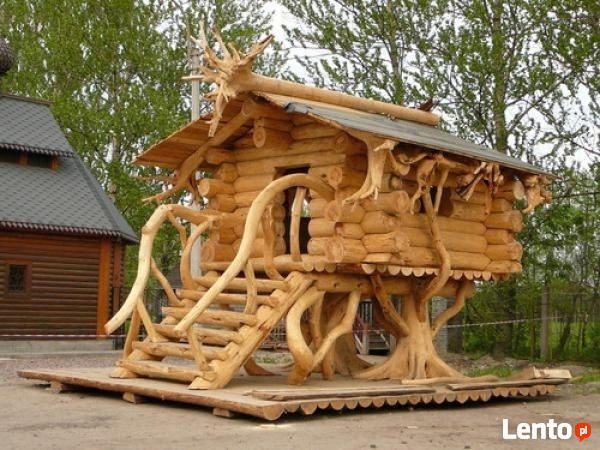 Ukraina Domy Z Bala Sarmacki Drewniane Okna Dachy Altany