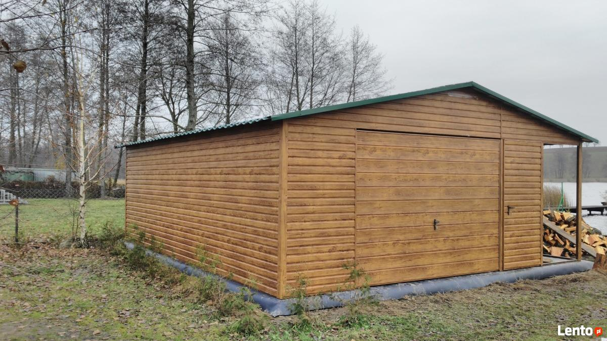 Ogromnie drewnopodobny garaż blaszany 5x7 wiata profil Kraków JD11