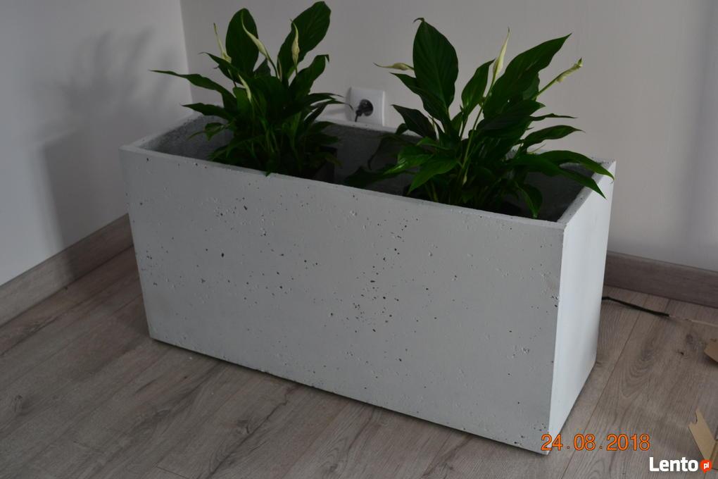 Chwalebne Duże donice z betonu architektonicznego Kościerzyna NG01