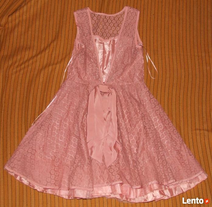57a034ae Archiwalne Wesele sukienka pudrowy róż Boohoo Rose Pink Rozmiar S ...