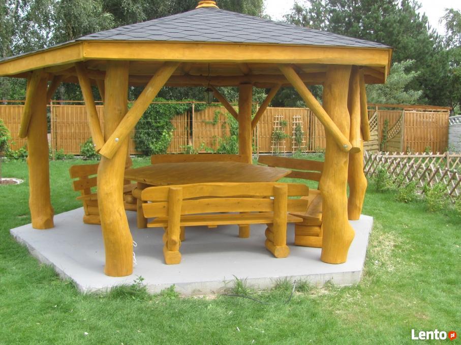 altana altanka altany z bali drewniane do ogrodu ogrodowe