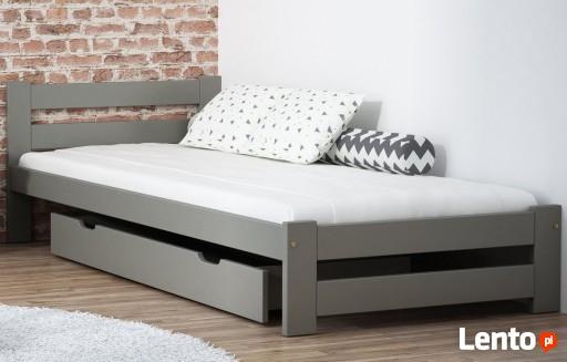 łóżko Drewniane Sosnowe A1 Szare 90x200 Stelaż Emd Wrocław