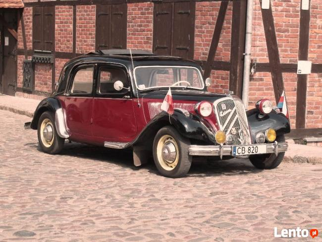 Zabytkowe Citroeny Samochody na Ślub Wesele