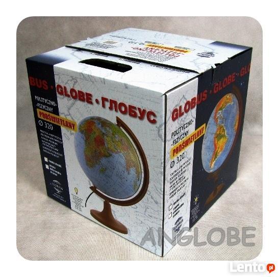 Globus 320 Polityczno - Fizyczny - 2w1! - Podświetlany