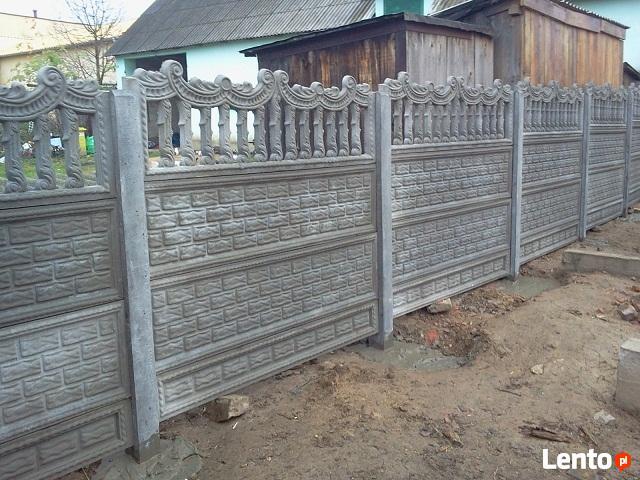 Ogrodzenia betonowe, płoty betonowe, przęsła, podmurówka,
