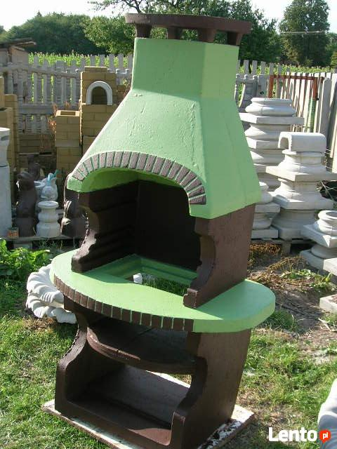 grill kominek ogrodowy fontanna kolumna betonowa
