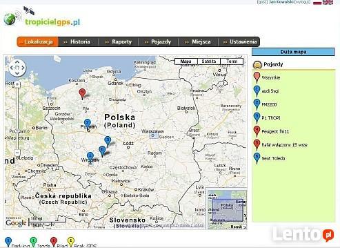 Monitoring GPS pojazdów, lokalizuj swoje auto,tropicielgps