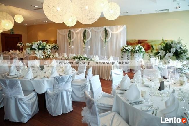 Dekori Białe Pokrowce Na Krzesła ślub Wesele Gdynia Gdynia