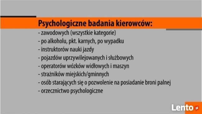 PSYCHOLOGICZNE BADANIA KIEROWCÓW I OPERATORÓW W SŁAWNIE