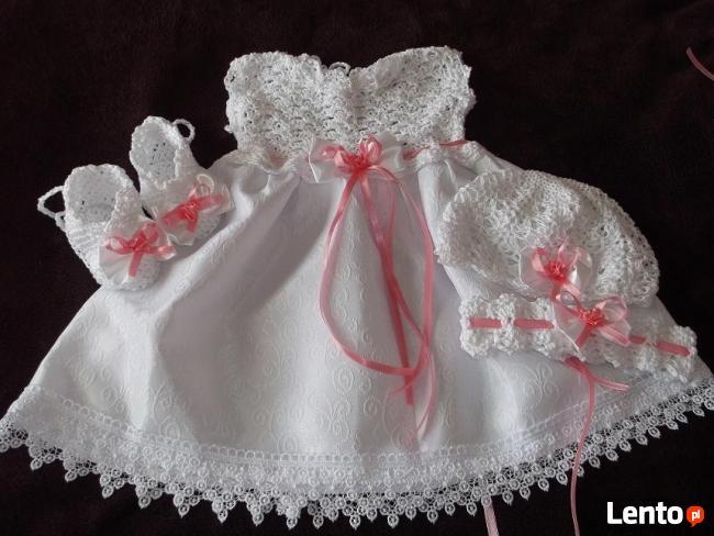 627f092470 sukienki do chrztu szydełkowe - komplety - Walentyna Będzino
