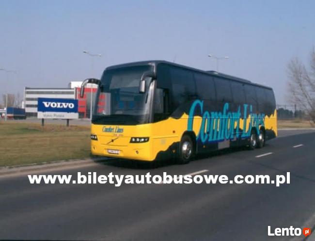 Bilet autobusowy na trasie Warszawa - Lwów od 70zł !