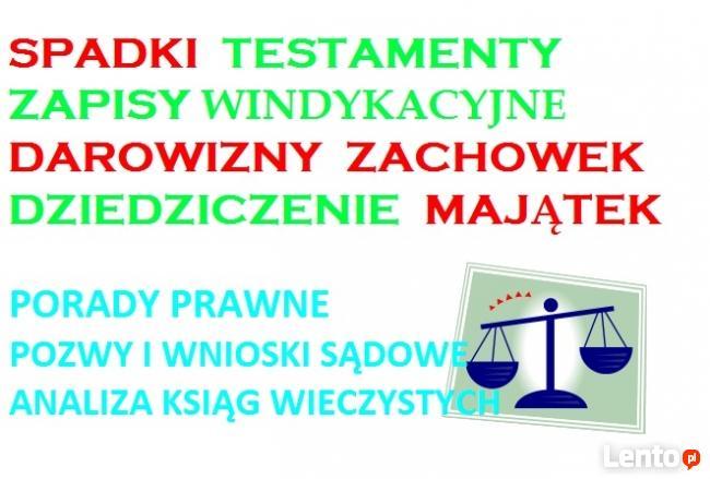 Testament Spadek Darowizna Zachowek Majątek PORADY I PISMA