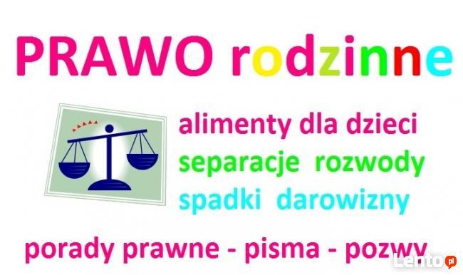 PRAWO RODZINNE - pomoc prawnika w sprawach rodzinnych PORADY