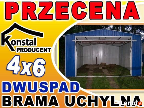 Garaże Blaszane Garaż Blaszany 4x6 Dach Dwuspadowy Akryl Kielce