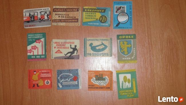 etykiety na zapalki z 1964 roku
