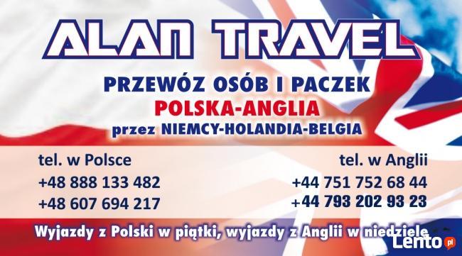 Alan Travel przewoz osob i paczek PL-UK