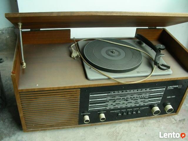 Unitra zabytkowe radio z gramofonem