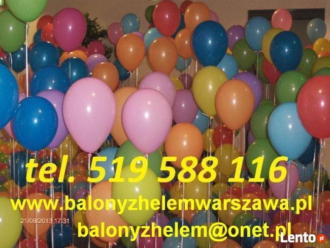 Hel do balonów łódz balony z helem w łodzi ledowe brama