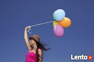 Kolorowe balony z helem/Prezent z balonami/wypuszczanie/